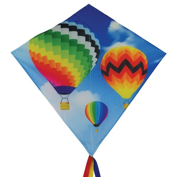 "View Hot Air Balloon 30"" Diamond Kite"