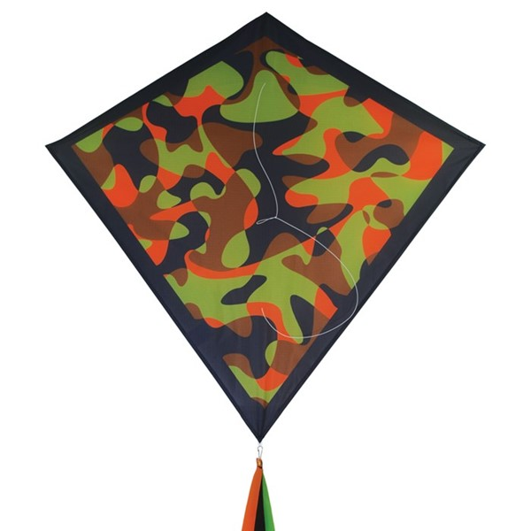 "View Orange Camouflage 30"" Diamond Kite"