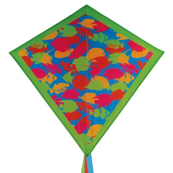 "View Tropical Fish Camouflage 30"" Diamond Kite"