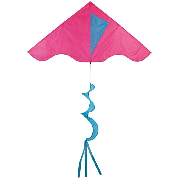 View Pink/Aqua Colorblock Delta Kite