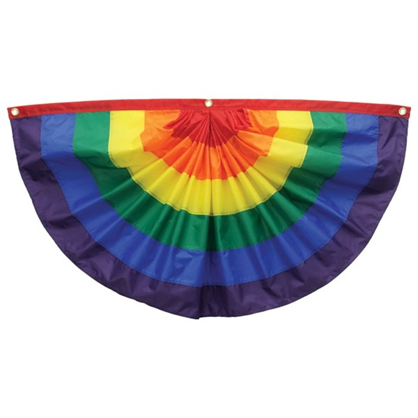 View Rainbow Pleated Fan Bunting, 3' x 6'