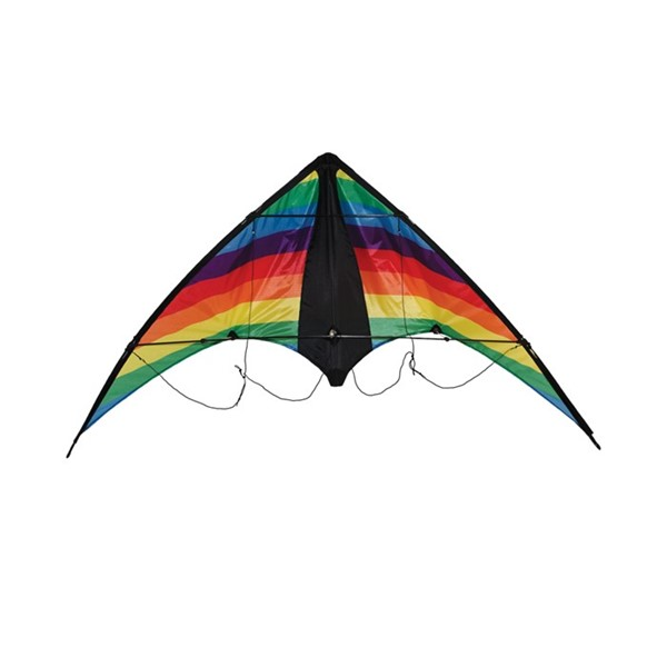 View Rainbow Stripe Stunt Kite (Optimized for Shipping)