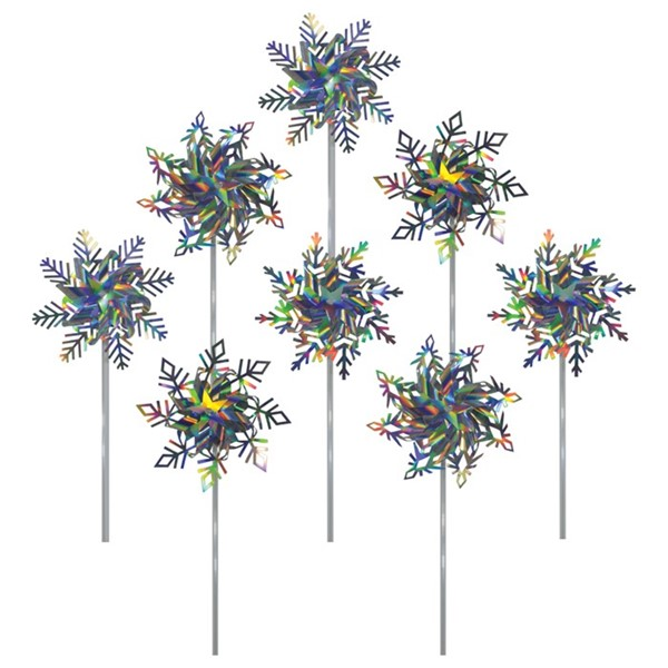 "View 8"" Snowflake Pinwheels - 8 PC Assortment"