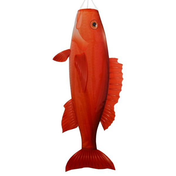 "View Red Snapper 48"" Fish Windsock"