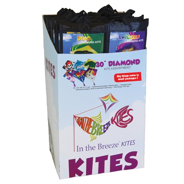 "View Graphic 30"" Diamond Kites 24PC Display"