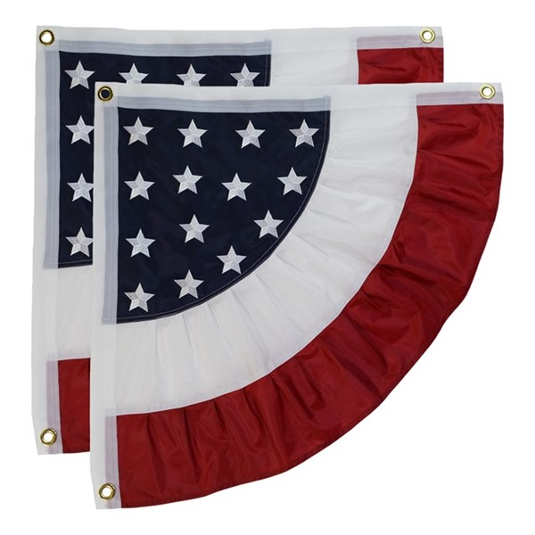 View Patriotic Ruffle Corner Bunting, Set of 2