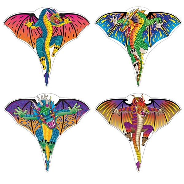 View Dragon Poly Kites - 24 PC Assortment